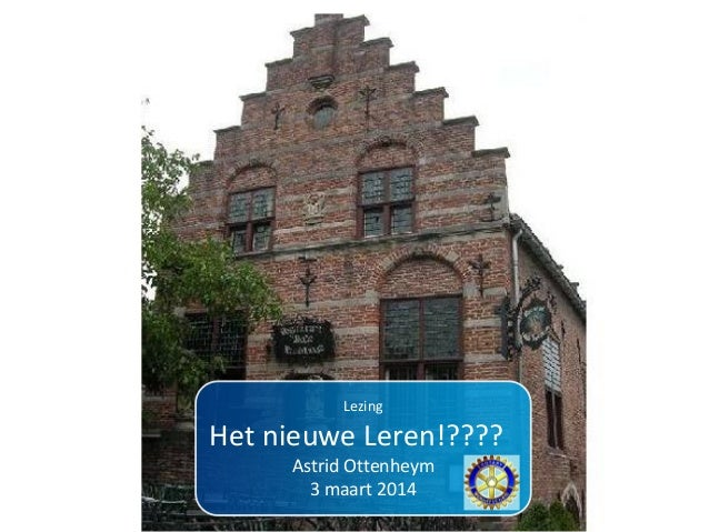 Rotary lezing nieuwe leren maart 2014