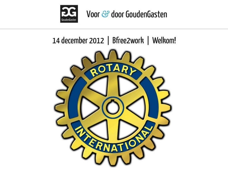 Rotary presentatie GoudenGasten