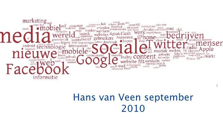 Hans van Veen september          2010