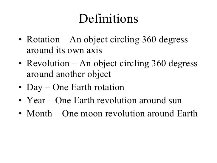 Rotation Vs Revolution Science Http Adventuresinscience Edublogs Org ...