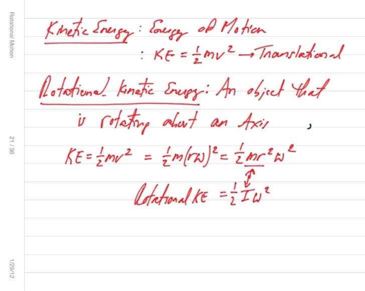 Rotational motion 2