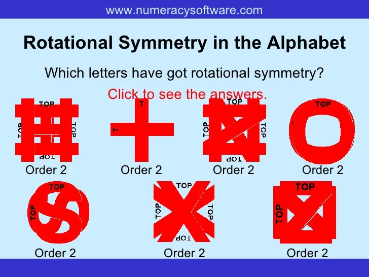 Reflection Symmetry Alphabet Images. Symmetry Presention By Disha