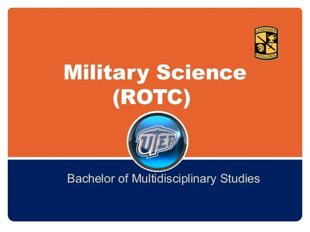 Military Science (ROTC) Bachelor of Multidisciplinary Studies