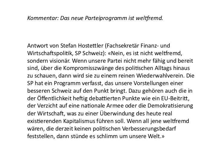 Kommentar: Die SP sollte mehr mit den Grünen zusammenarbeiten. Antwort von Rebekka Wyler (Gemein...