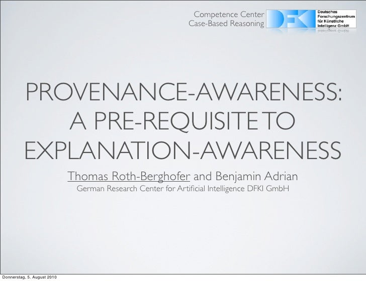 Competence Center                                                              Case-Based Reasoning               PROVENAN...