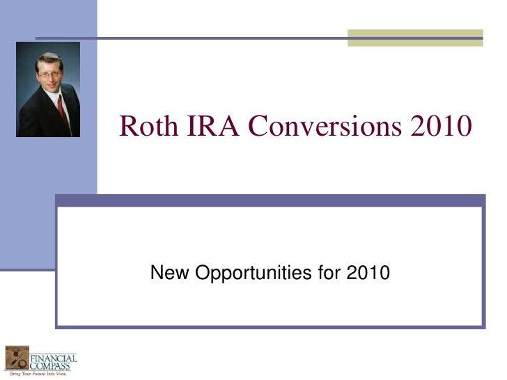 Roth Ira Conversions 2010