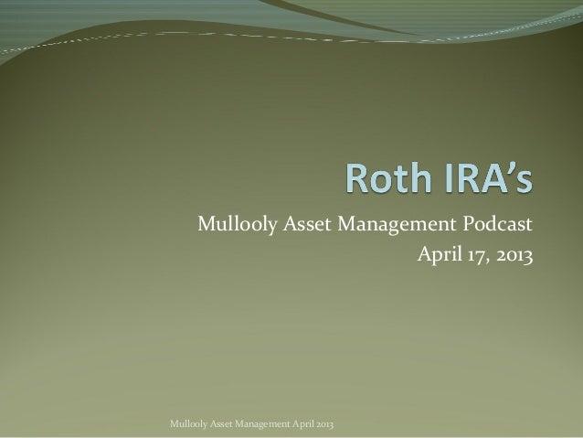 Roth IRA's