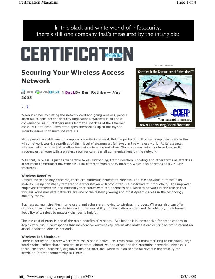 Certification Magazine                                                          Page 1 of 4                               ...