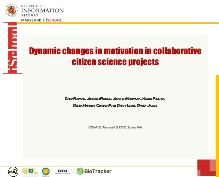 Dynamic changes in motivation in collaborative citizen science projects