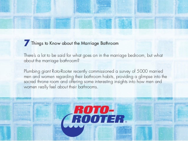 7 Things to Know about the Marriage Bathroom There's a lot to be said for what goes on in the marriage bedroom, but what a...