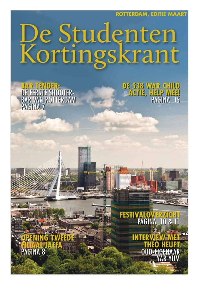 Rotterdam, editie maartInterview mettheo heuftOud-eigenaarYab YumOpening tweedefiliaal JaffaPagina 8Bar tender:de eerste s...