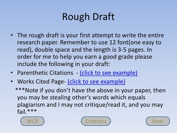 Free+Rough+Draft+Sample Writing the rough draft of a research paper ...