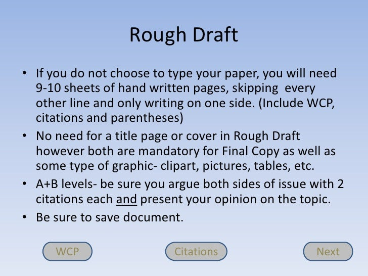 How to write a rough draft for an essay