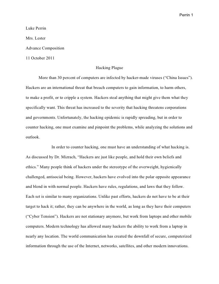Research Paper - Hacker Plague
