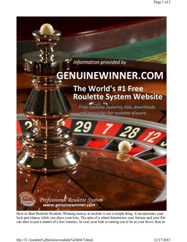 beat online casino roulette