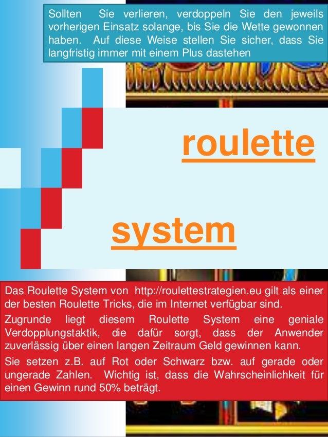 roulette system Das Roulette System von http://roulettestrategien.eu gilt als einer der besten Roulette Tricks, die im Int...
