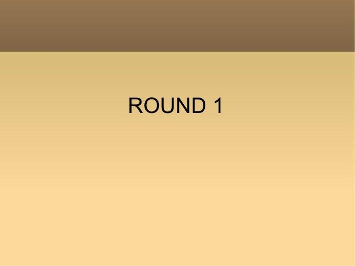 Round 1 gnosis