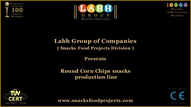 Round corn chips snacks production line