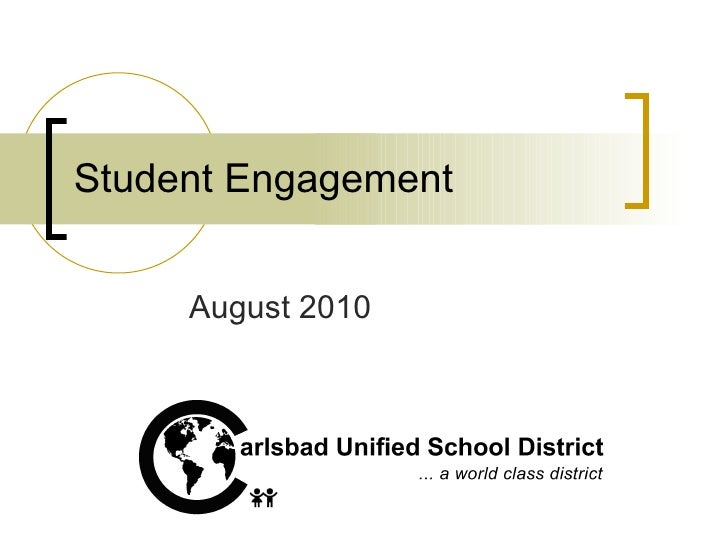 Student Engagement August 2010