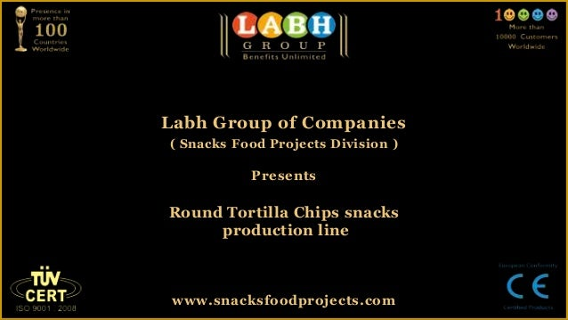 Round tortilla chips snacks production line