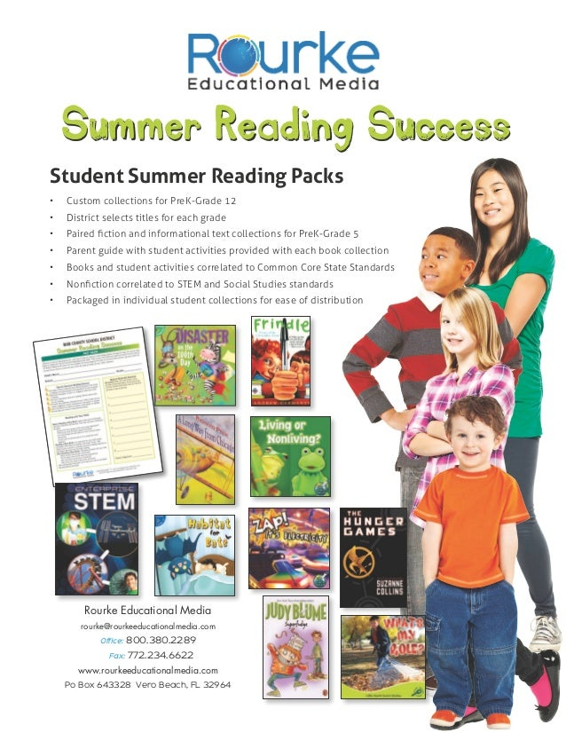Summer Reading SuccessStudent Summer Reading Packs•   Custom collections for PreK-Grade 12•   District selects titles fo...