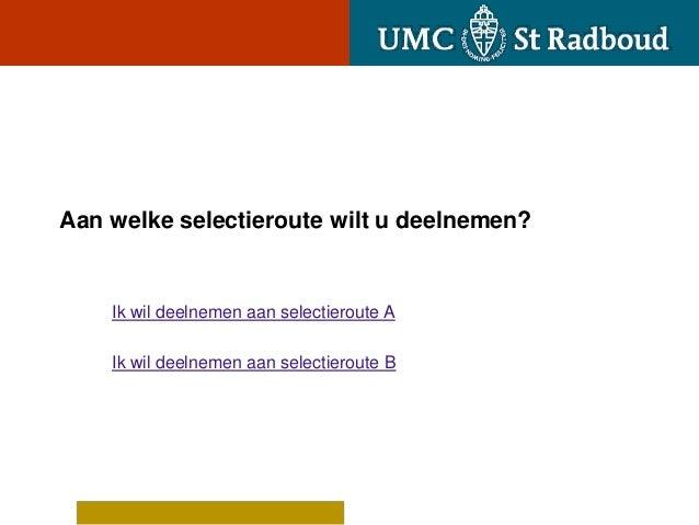 Route b decentrale selectie 2013