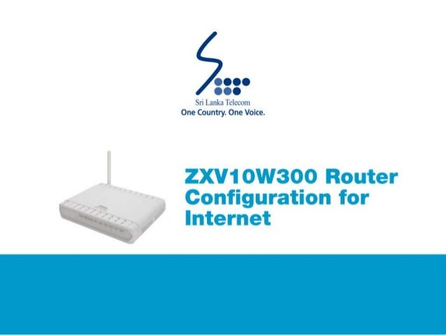 have some zte router configuration got