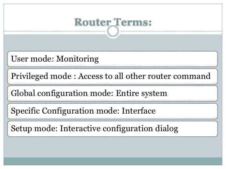 Cisco Router Terms