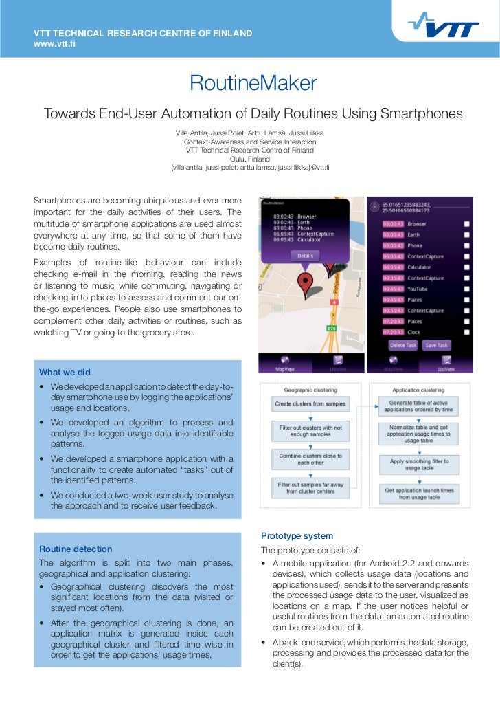 RoutineMaker: Towards End-user Automation of Daily Routines using Smartphones