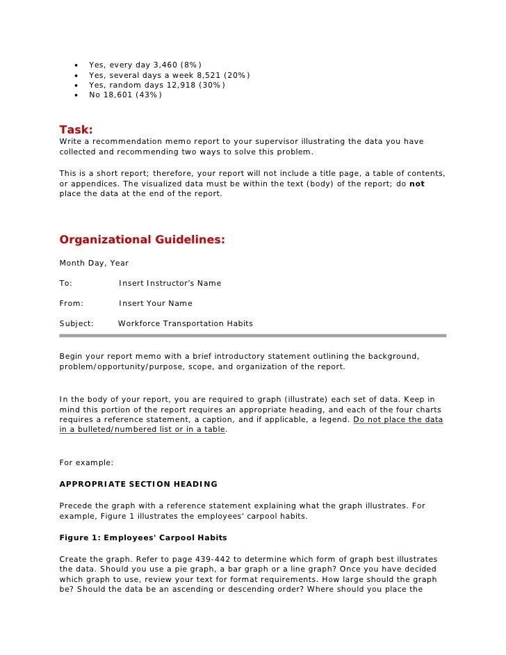 Examples of Formats for a Business Report