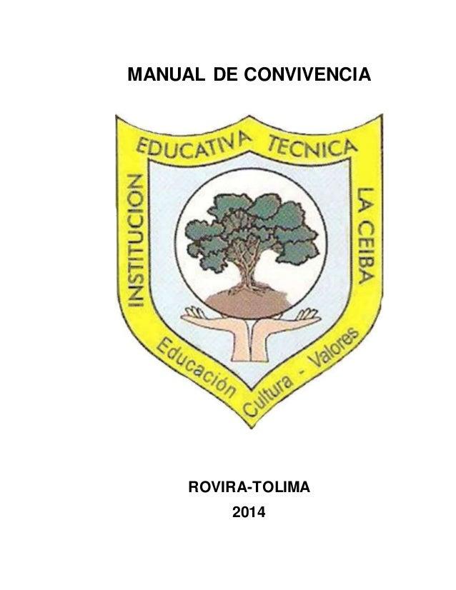 MANUAL DE CONVIVENCIA  ROVIRA-TOLIMA  2014  1