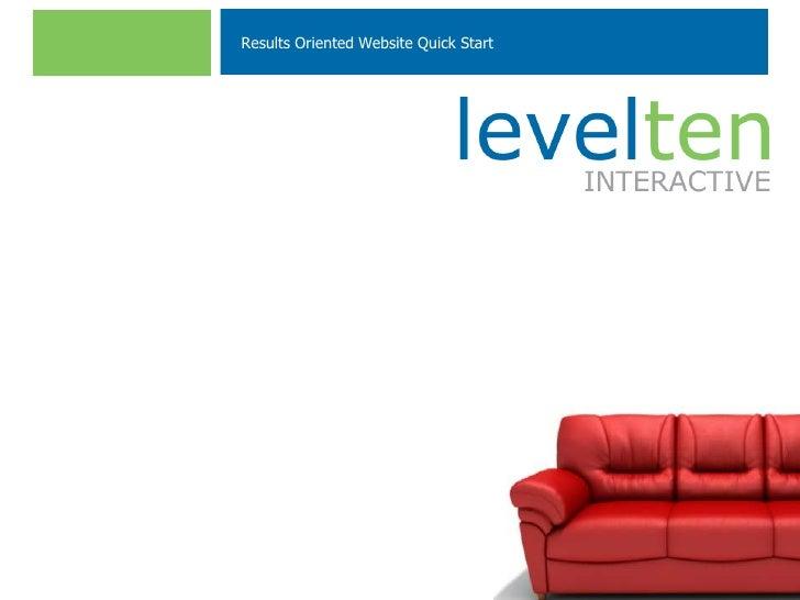 Results Oriented Website Quick Start[MM.DD..YY]          [PRESENTER]