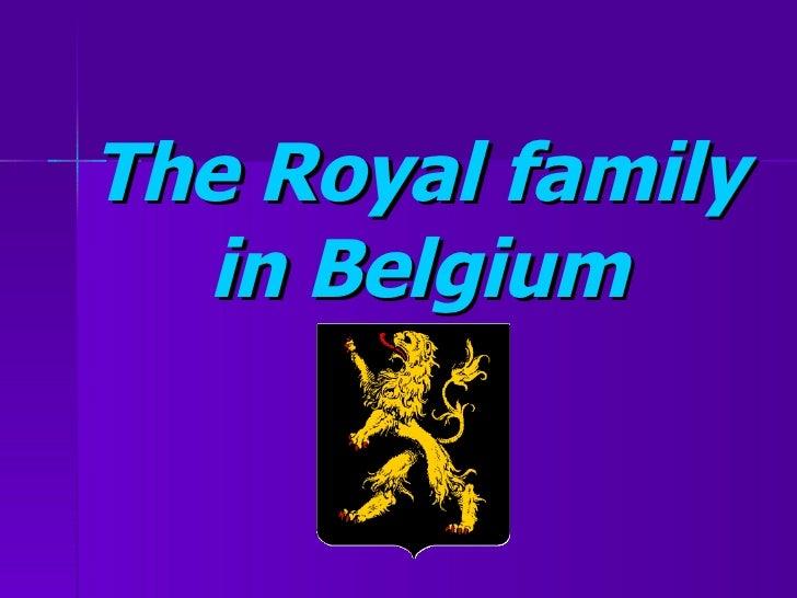 The Royal family in Belgium