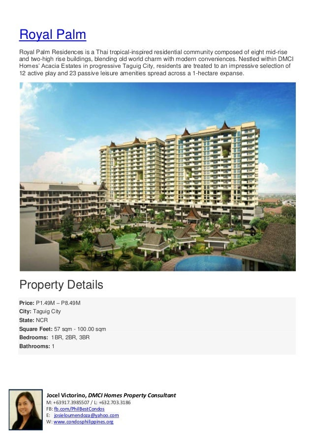 Pre Sell / Condo For Sale in Taguig City - Royal Palm Residences