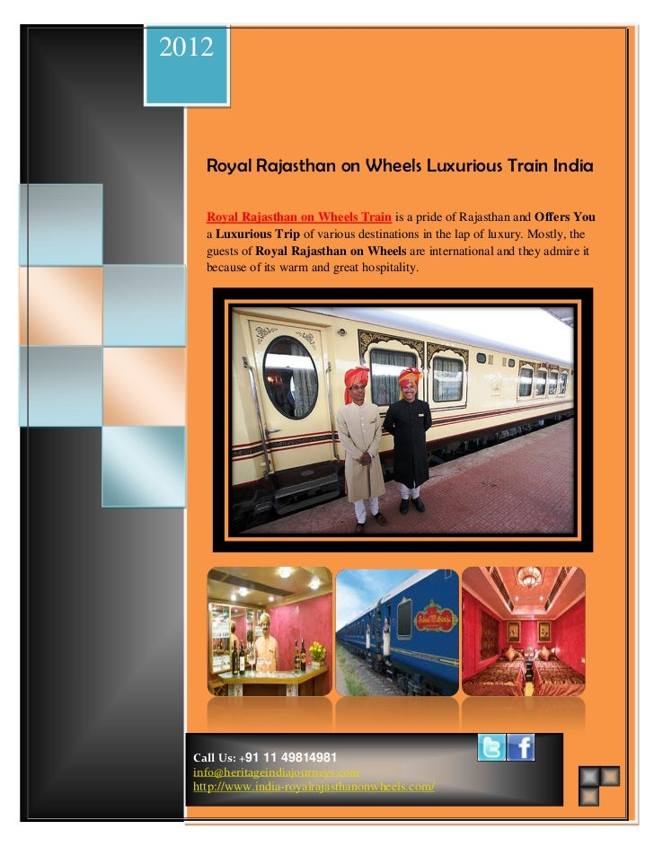 2012         Royal Rajasthan On Wheels Schedule & Route MapWedding Packages             Beach Wedding                     ...