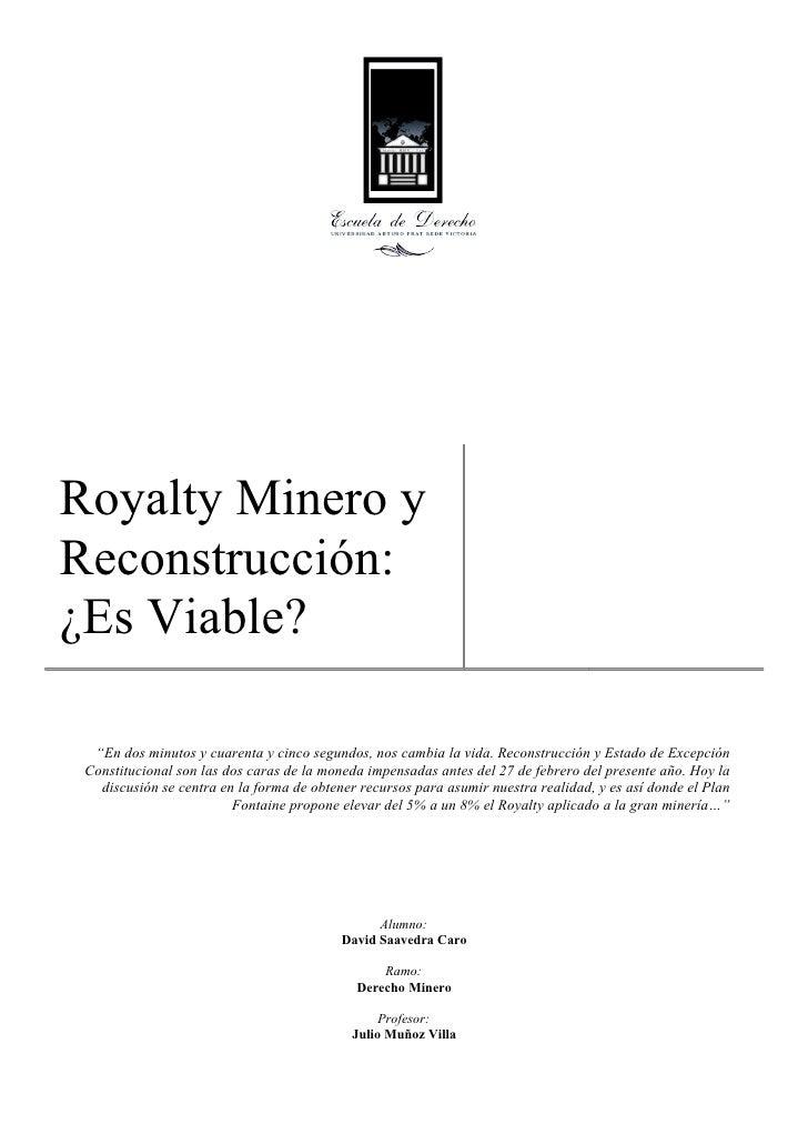 Royalty Minero