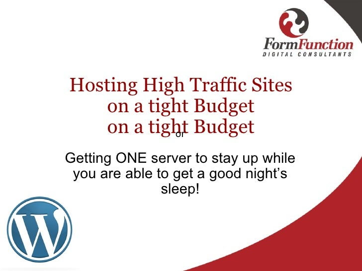 Roy foubister (hosting high traffic sites on a tight budget)