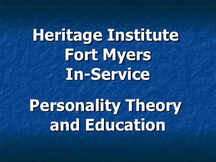 Roy Shaff (Author) MBTI Theory and Education Presentation
