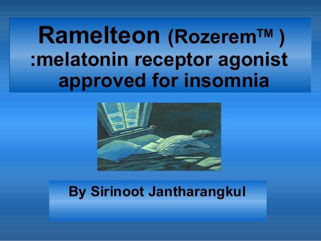 Rozerem (ramelteon)