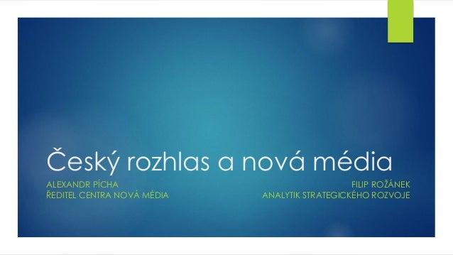 Český rozhlas a nová média