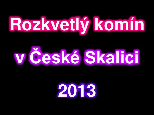 Rozkvetlý komín v České Skalici 2013