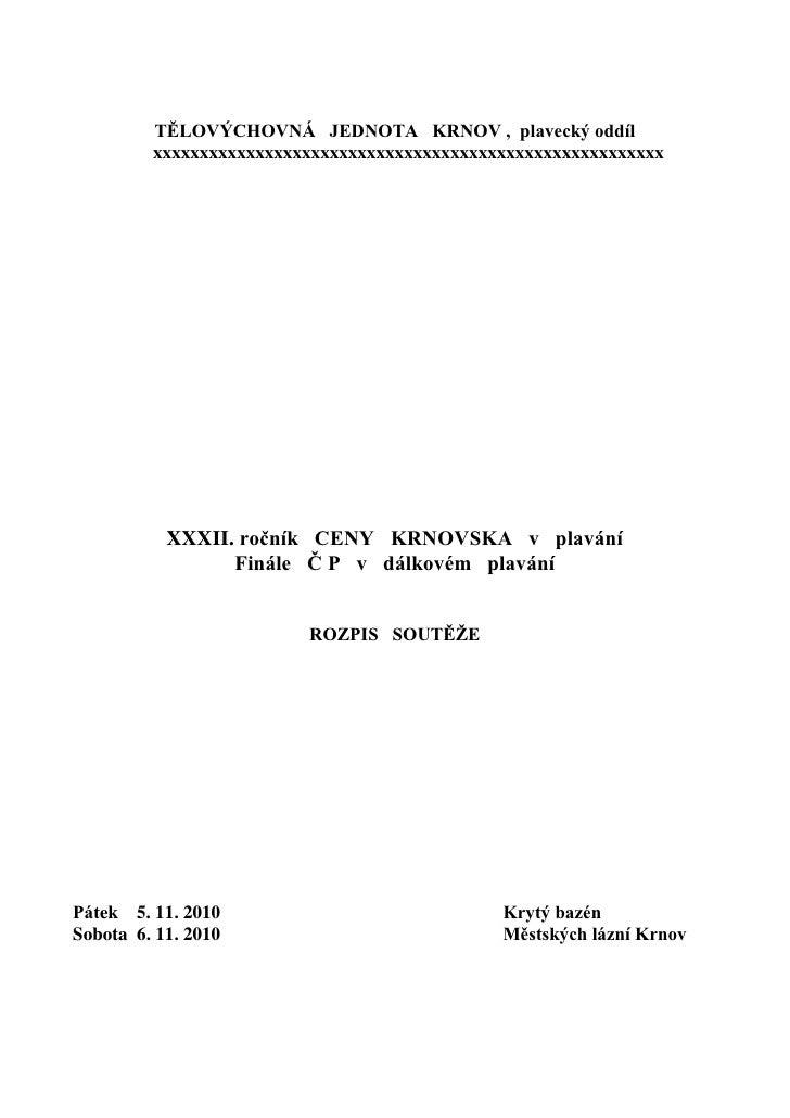 Cena Krnovska