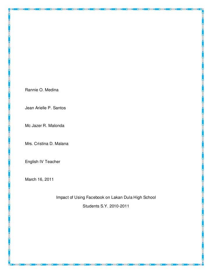 Rannie O. MedinaJean Arielle P. SantosMc Jazer R. MalondaMrs. Cristina D. MalanaEnglish IV TeacherMarch 16, 2011          ...