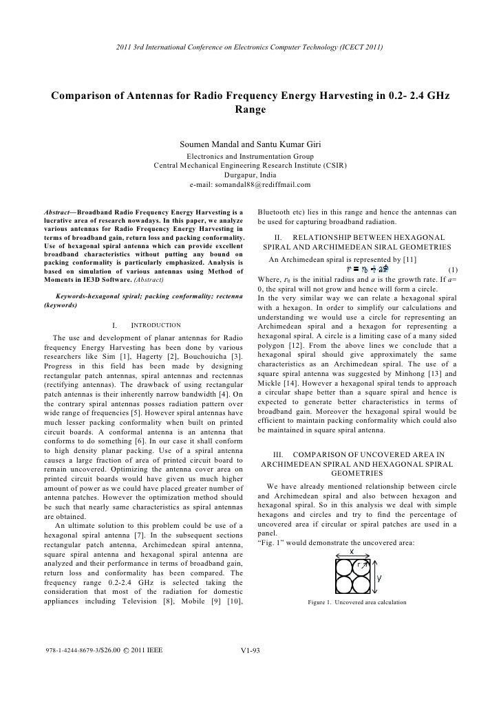 Comparison of Antennas for Radio Frequency Energy Harvesting in 0.2- 2.4 GHz Range