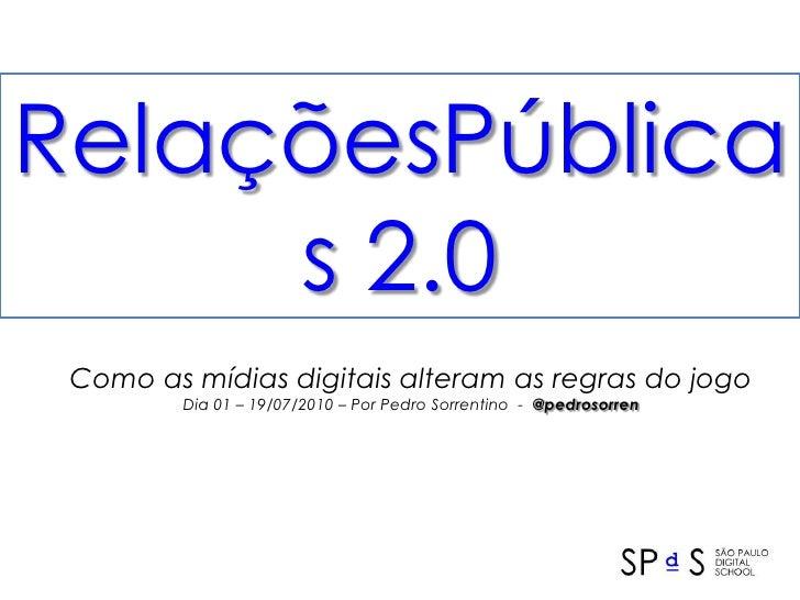 PR 2.0 + Social Media for @SPDS - June 2010