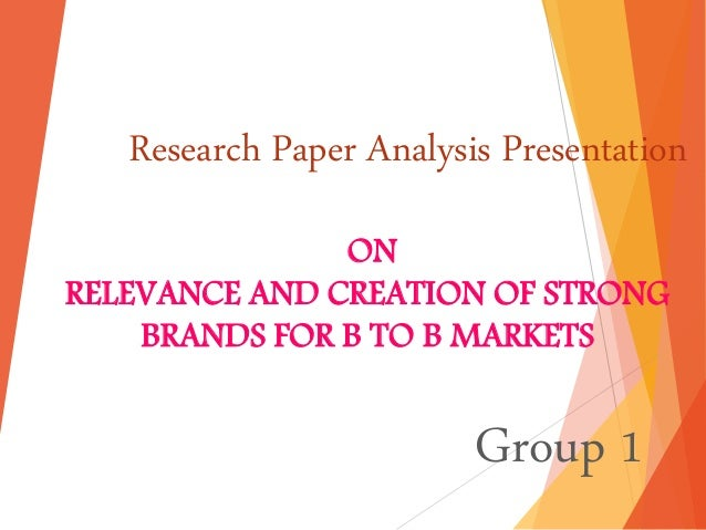 research paper on branding Working papers 556 anders hampf & kirsti lindberg-repo branding: the past, present, and future: it became vital for marketers to establish through research how.