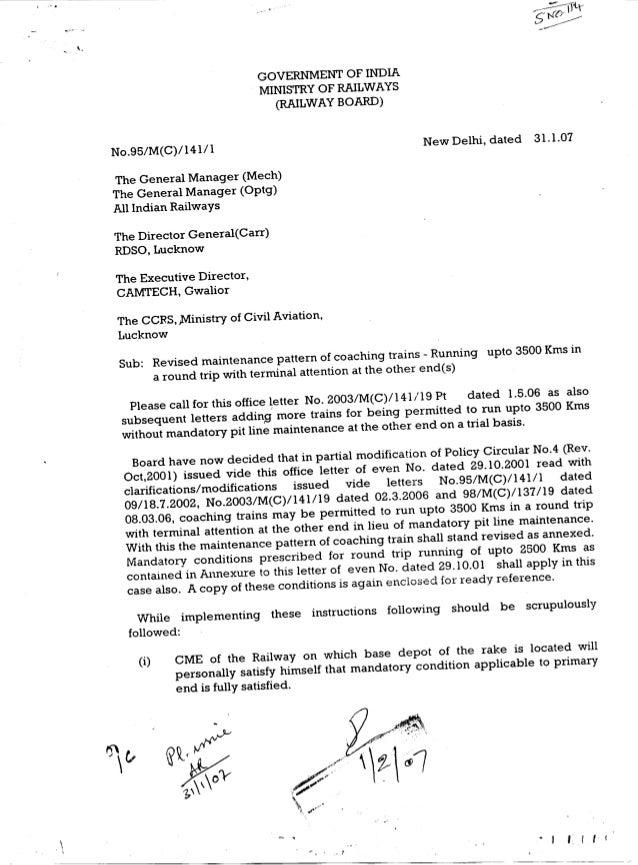 GOVERNMENTOF INDIA                             MINISTRY RAILWAYS                                     OF                   ...
