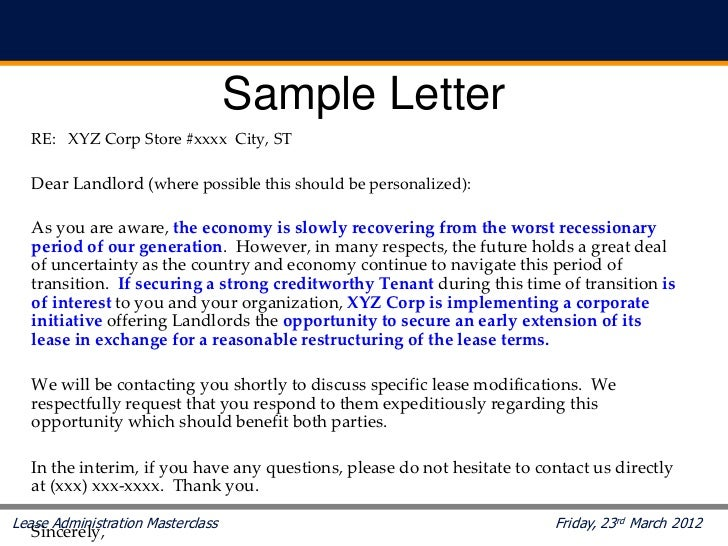 Letter Request For Rent Reduce To Landlord Business