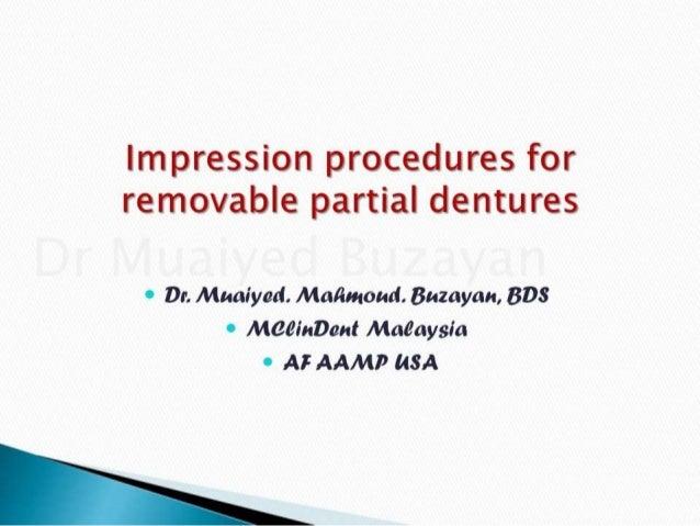 Rpd impression clinical 3rd & 4th year