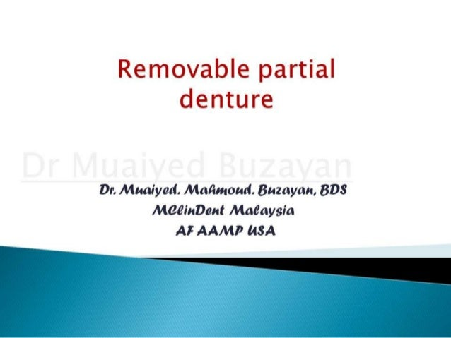 Rpd removable partial denture introduction 2nd yr